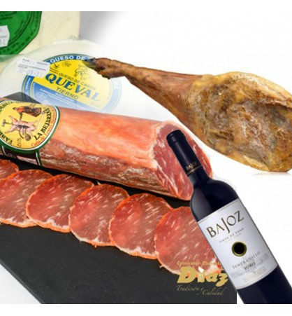 Pack de ibericos vino y queso