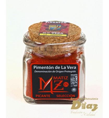 Pimenton picante D.O de la Vera en Tarro de cristal 40 g